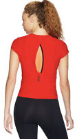 Women's UNDER ARMOUR Perpetual Run Short Sleeve Shirt Radio Red XL NWT $65