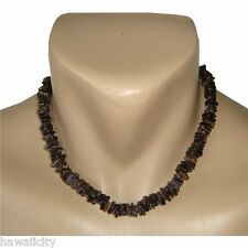 "Hawaiian Jewelry Dark Shell Necklace from Hawaii - 18"""