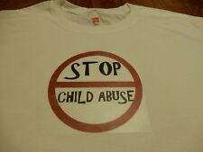 """New T-Shirt """"Stop Child Abuse"""" Size XL"""