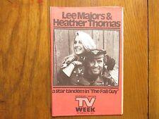 Dec. 6, 1981 Lancaster Pa TV Week Mag(THE  FALL  GUY/LEE  MAJORS/HEATHER THOMAS)