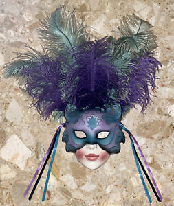 Vintage Clay Art San Francisco About Face Wall Mask Cat Woman Musical
