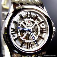 Bulova Accutron Kirkwood Skeletonized Swiss Automatic 26 Jewels Steel Watch New