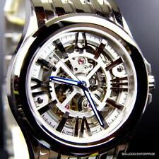 Bulova Accutron Kirkwood Skeletonized Swiss Automatic 26 Jewels Steel Watch New