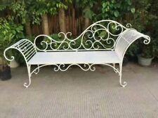 TC1: white Metal Chaise Lounge chair
