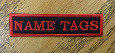 CUSTOM EMBROIDERED NAME TAG TITLE TAG PATCH VEST PATCH MADE IN USA