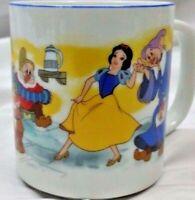 Vintage Disneyland Snow White 7 Dwarves Disney World Coffee Mug Cup Japan