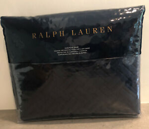 NEW Ralph Lauren Greenwich 300 Thread Count Sateen Euro Sham Polo Navy Blue