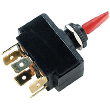 Red Illuminated DPDT 3 Position On / Off / On Toggle Switch for Boats