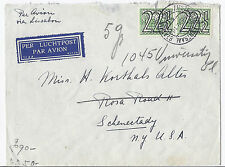 1941 Netherlands Cover Airmail & Railway Mail - WW2 Censor, Cologne Cancel