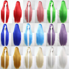 80CM Long Straight Carnival Cosplay Hear Wig Heat Resistant For Women Full Wigs