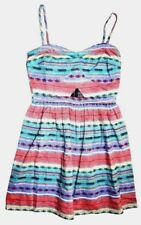 New Vans Womens Lock & Load Key Hole Halter Summer Sun Mini Dress Size Small