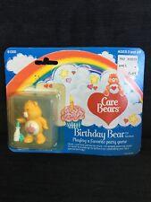 """Care Bears Birthday Bear 2"""" PVC Miniature Figure Kenner 1984 Vintage"""