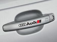 6 x Audi Aufkleber für Türgriff A1 A3 A4 A5 A6 Q3 Q5 A7 A8 RSQ3 RS Emblem S