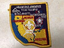 1975 14th World Jamboree Tour Troop 81 Contingent Patch