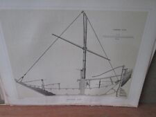 Vintage Print,JAPANESE JUNK,Perry Expedition Japan,1856