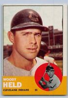 1963  WOODY HELD - Topps Baseball Card # 435 - CLEVELAND INDIANS