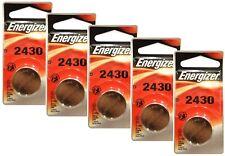 5 pc Energizer CR 2430 Lithium Coin 3V Battery Single Pack ECR2430BP Exp: 2025