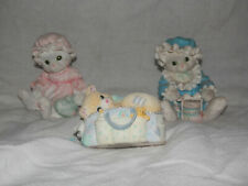 Three Adorable Calico Kittens From Enesco Figurines.