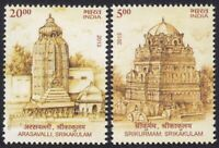 Architecture, Temple, Rock Carving, Monument, India 2013 MNH 2v (N4n)