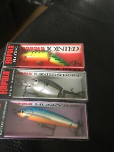 Rapala X 3 Small Lures - Pike, Trout Fishing, Perch, Chub