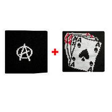 Coppia polsini a anarchia + carte da gioco in spugna gruppi rock e bandiere