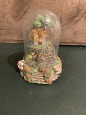 Franklin Mint Figurine - Wishing Well Cottage- Violet Schwenig , Glass Dome