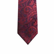 Corbata De Seda Tejido Floral Rojo-Para Hombre Corbata de Fiesta Boda Informal