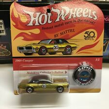 Hot Wheels 50th Anniversary 1968 Mercury Cougar with Collectors Button