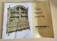 Vintage Union-National Jamestown,NY Illustrated Furniture Catalog