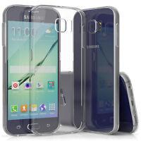 SDTEK Custodia per Samsung Galaxy S6 Trasparente Silicone Cover