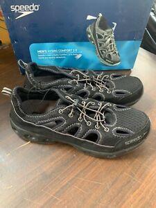 New Speedo Men's Hydro Comfort 2.0 Water Shoes Black Grey Bungee Pick Size
