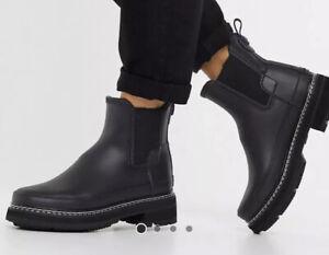Sage UK 3 EU 36 Hunter Womens Original Refined High Heel Chelsea Boots BNIB