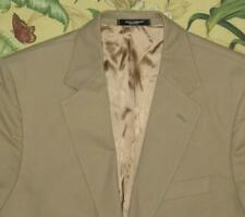 Mens DOLCE GABBANA Khaki Luxury Cotton Sport Coat Blazer Jacket EU 52 US 42