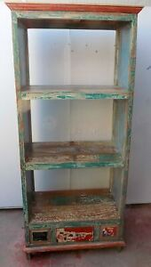 Library Teak Wood Recycled From Boats Industrial CMS 86x48x191h