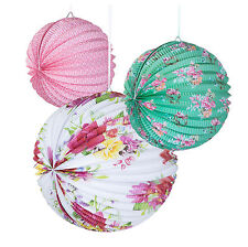 3 x Vintage Style Pretty Paper Lanterns Party / Wedding Decorations  FREE PP