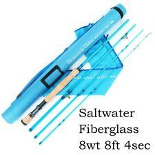 Maxcatch Bluewave Fiberglass Saltwater Fly Fishing Rod 8FT 8WT 4sec