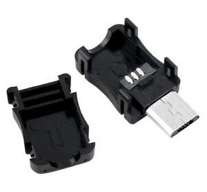 Connecteur à souder Micro USB 5 broches +Boitier 2 pièces /Connector 5 pins +Box