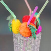 50 papier parapluie en plastique paille de plage de fruits