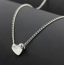 Elegant Women Gold Silver Heart Shape Pendant Chain Choker Nacklace Jewelry Gift