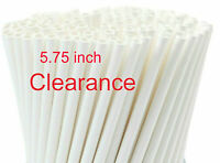 """250pcs Paper Straws White  Drinking Straw Party Supplier 6mm  5.75"""" Closeout"""