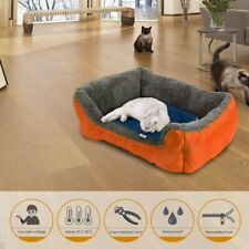 Waterproof Electric Heating Pad for Dogs Cats Indoor Warming Mat Blue 40x 30cm