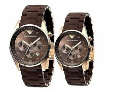 Brand New EMPORIO ARMANI Women's Chrono  Black Watch AR5891(only one send)
