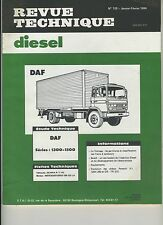 (1B)REVUE TECHNIQUE DIESEL DAF séries 1300-1500 / SCANIA R-T 142/ MB OM 422 LA