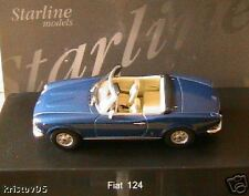 FIAT 124 CABRIOLET DECAPOTABLE BLEU STARLINE 1/43 BLUE