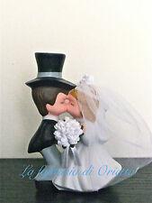 Cake topper porcellanaSPOSI BACIO PICCOLI matrimonio nozze decorazione torta