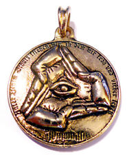 Vintage Antique Jewelry Illuminati 24ct Pendant Amulet