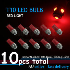 10x T10 Red Dash Wedge Parker Stop Park Side Tail LED Light Bulbs W5W 194 168 OZ