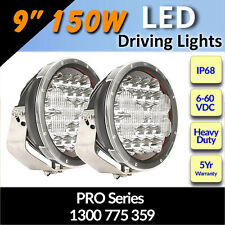 "LED Driving Lights 9"" 150w  Heavy Duty PRO Series CREE 12/24v ""Brilliant"""