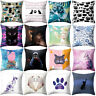JW_ 18'' Cat Kitten Throw Pillow Case Cushion Cover Sofa Bed Car Home Decor Si