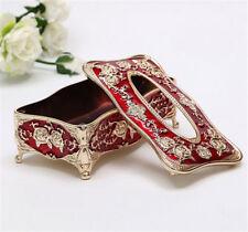 Elegant europe retangle napkin paper holder ring storage holder tissue box cover